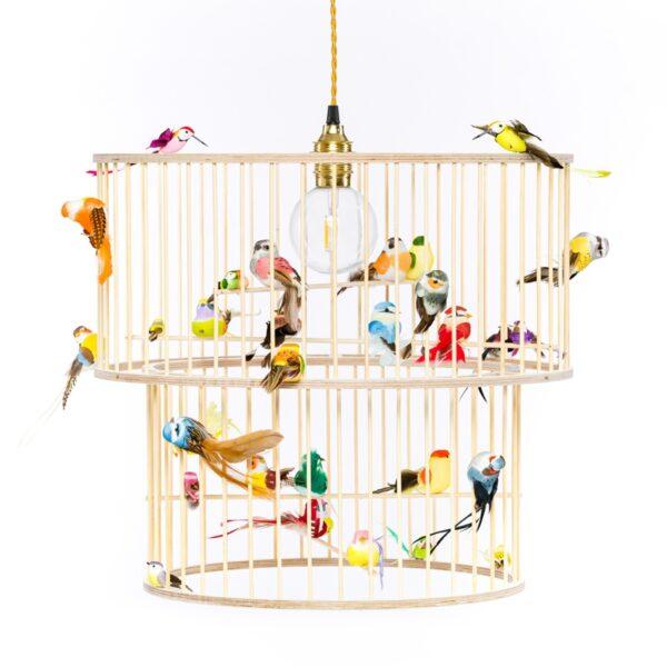 Double birdcage pendant light lamp chandelier