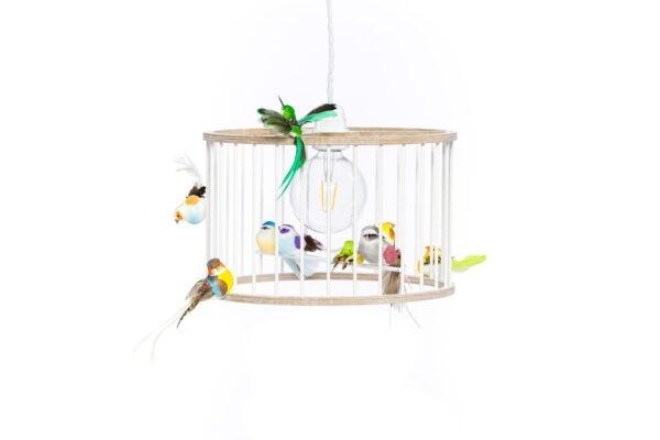 White Small Birdcage Light Chandelier
