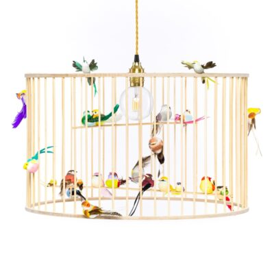 Large birdcage chandelier pendant light