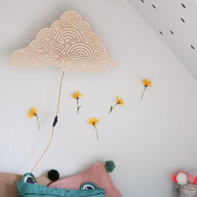 Plywood cloud wall lamp nursery light lakaluk
