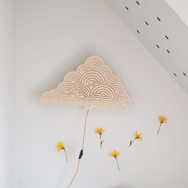 Plywood cloud wall lamp NIGHTLIGHT nursery light lakaluk