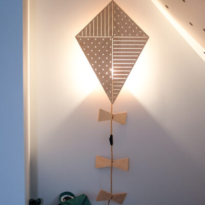 kite lamp kids room lamp wall lamp plywood lamp lakaluk