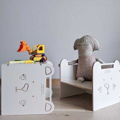 Montessori kuubiktool laste tool laste laud vineerist lakaluk