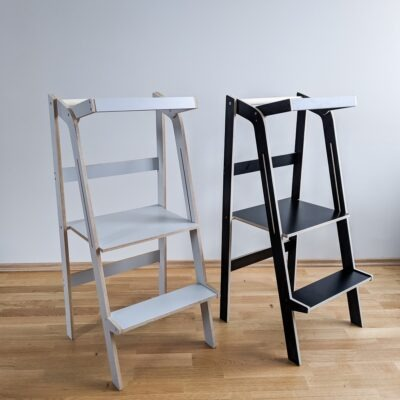 folding learning tower foldable helper tower toddler step stool kitchen tower